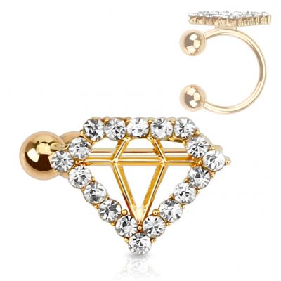 Earcuff met diamant design