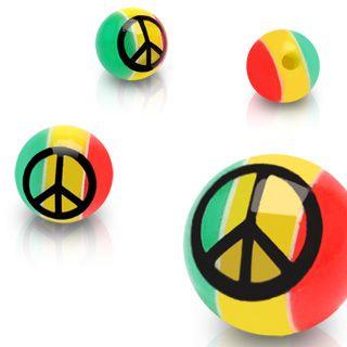 Rastaballetje met peace logo