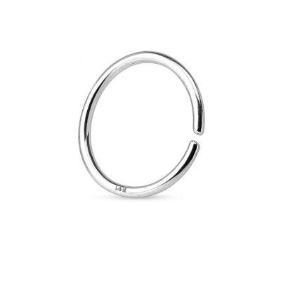 Simpele gesloten ring van 14 karaats goud