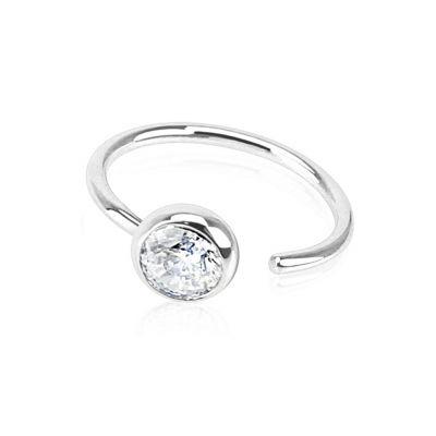 Eenvoudige ring uit 14 karaats goud met een steen
