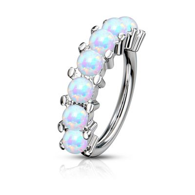 Ring met reeks opaalstenen