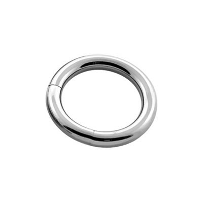 Gesloten piercingring uit titanium