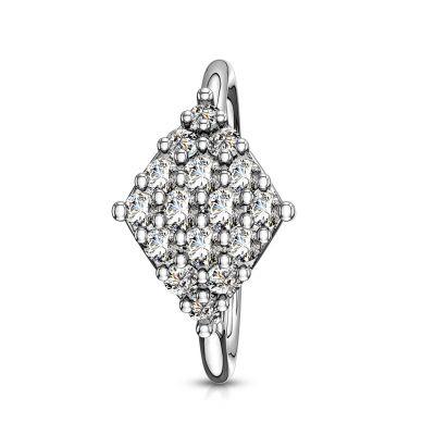 Ring met diamantvormig ontwerp