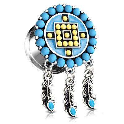 Plug met Azteek-geïnspireerd ontwerp