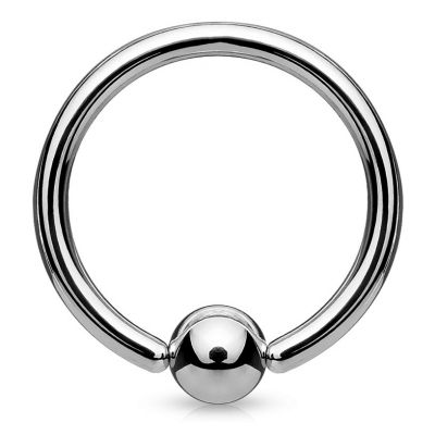 Ball closure ring uit titanium