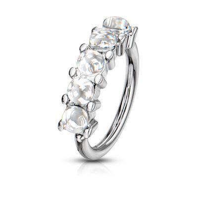 Ring met reflecterende stenen op de zijkant