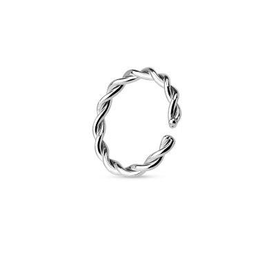 Eenvoudige getordeerde ring uit 14 karaats goud