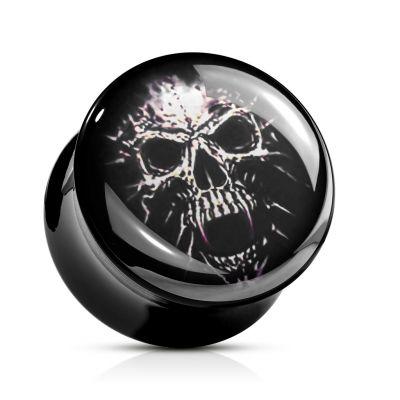 Plug van acryl met skull