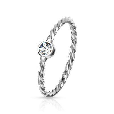 Gedraaide ring met steen