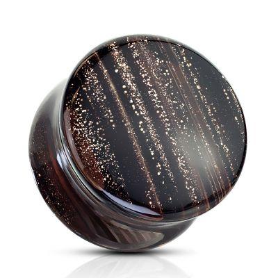Plug uit glas met glitterpatroon