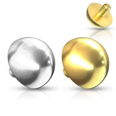Koepelvormige dermal uit 14 karaats goud