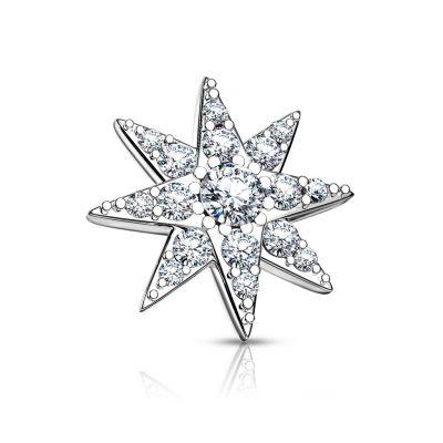 Dermal in de vorm van een ster met grote centrum steen