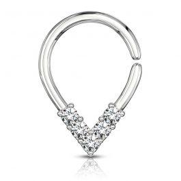 Ring in druppelvorm met steentjes